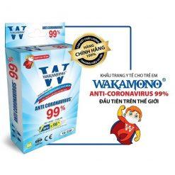 Khẩu trang trẻ em Wakamono bảo vệ và phòng chống các bệnh qua đường hô hấp cho trẻ một cách tuyệt đối và an toàn.