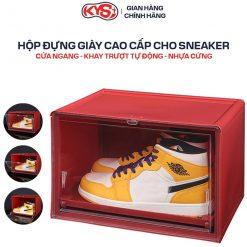 Hộp Đựng Giày Sneaker Cửa Ngang Khay Trượt Tự Động Cao Cấp - KYS Plus