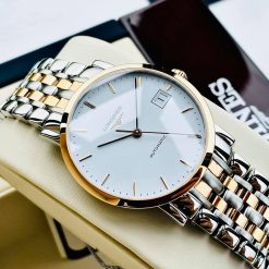 Đồng Hồ Unisex LONGINES Elegant Automatic White Dial 34.5 mm Watch L48095127